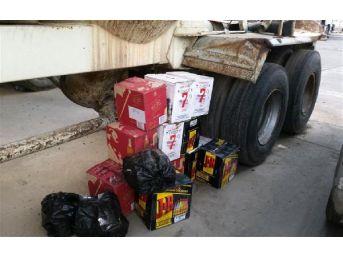 Habur'Da Kaçak Içki Ve Sigara Ele Geçirildi