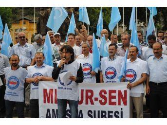 Doğu Türkistan'daki Çin Baskısına Amasya'dan Protesto