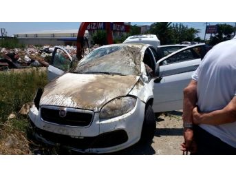 Söke'de Otomobilin Takla Attığı Kaza Ucuz Atlatıldı