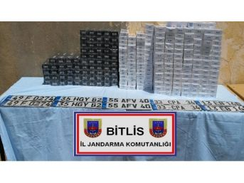 Bitlis'te Gümrük Kaçağı 40 Bin 90 Paket Sigara Ele Geçirildi
