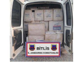 Bitlis'te Kaçak Sigaraya 14 Gözaltı