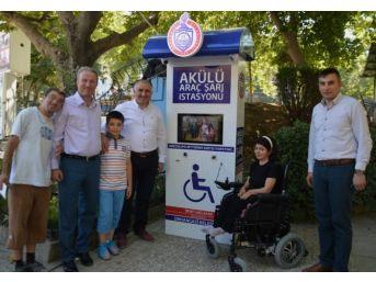 Orhangazi'de Engellilere Şarj İstasyonu