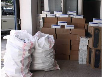 Erzincan'da 14 Bin 940 Paket Kaçak Sigara Ele Geçirildi