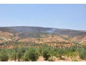 Nizip'te Dağlık Alanda Yangın