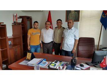Gazilerden Veda Eden Garnizon Komutanı'na Teşekkür Ziyareti