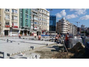Taksim Meydanı İle Gezi Parkı'nı Birleştirme Çalışmaları Başladı