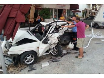 Bodrum'da Trafik Kazası: 3'ü Çocuk 4 Yaralı