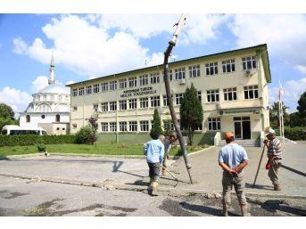 Kırkpınar Turizm Meslek Yüksekokulu Bahçesine Düzenleme
