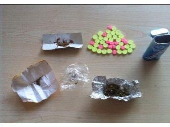 43 Uyuşturucu Hap Ve Bonzai Ile Yakalanan Şüpheli Serbest Bırakıldı