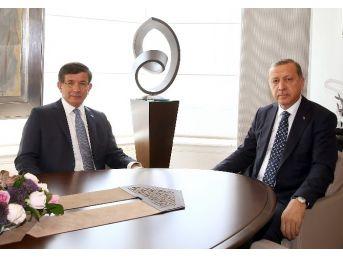 Cumhurbaşkanı Erdoğan, Başbakan Davutoğlu İle Görüştü