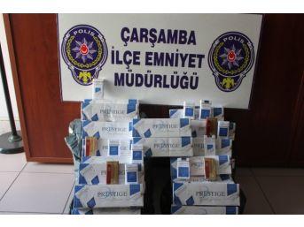 Çarşamba'da 722 Paket Kaçak Sigara Ele Geçti