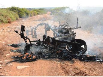 Didim'deki Motosiklet Yangını Korkuttu