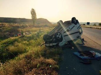 Çorum'da Kaza : 1 Ölü, 3 Yaralı