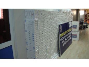 Edirne'de 13 Bin 380 Paket Kaçak Sigara Ele Geçirildi