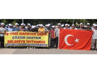 Gaziantep'te Katı Atık Toplayıcılarından 'ceza' Tepkisi