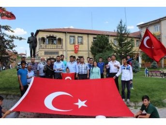 Tomarza'da Terör Protesto Edildi