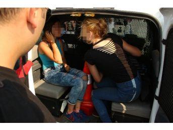 Kızların Para Kavgası Karakolda Bitti