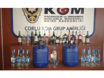 Çorlu Polisinden Kaçak İçki Operasyonu