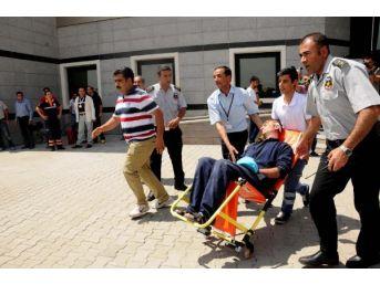 Van'da Hastanede Yangın Tatbikatı
