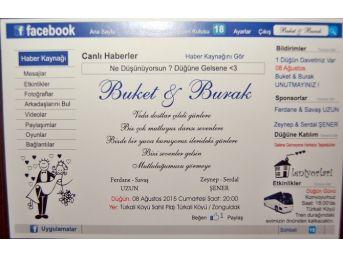Facebook'tan Düğün Davetiyesi