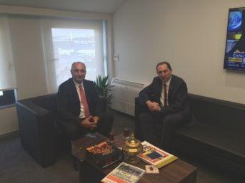 Rektör Alkan'dan Ziraat Katılım Bankası Genel Müdürü Arslan'a Ziyaret