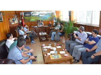 Tabipler Odası Ve Tabipler Birliği'nden Başkan Aksoy'a Ziyaret