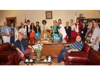 Taşköprü'de Yabancı Gruplarla Resepsiyon Yapıldı