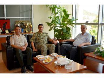 Söke Garnizon Komutanı Erol Akman'dan Başkan Toyran'a Ziyaret