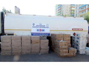 Diyarbakır'da 3 Araçta 188 Bin Paket Kaçak Sigara