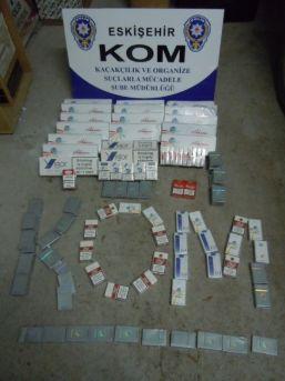 Çuval İçinde Yüzlerce Kaçak Sigara