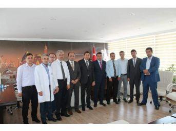 Ak Parti Kırşehir Milletvekili Salih Çetinkaya Kamu Hastanelerinden Brifing Aldı