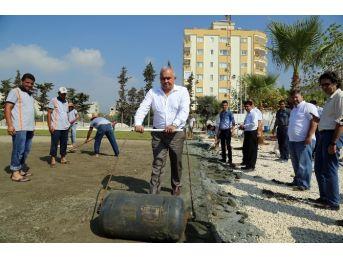 Erdemli Belediye Başkanı Tollu Devam Eden Stat Çalışmalarını Yerinde İnceledi