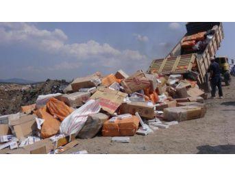 Uşak'ta, 371 Bin 500 Paket Gümrük Kaçağı Sigara Imha Edildi