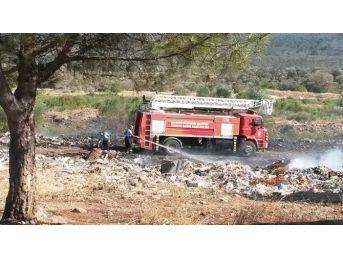 Havran'da Çöplük Yangını