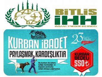 Bitlis İhh, Bu Yılki Kurban Bağışlarını 99 Ülkedeki İhtiyaç Sahiplerine Ulaştıracak