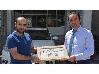 Tatvan Kaymakamı Erkan'a Teşekkür Ziyareti