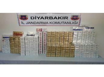Diyarbakır'da 70 Bin 410 Paket Kaçak Sigara Ele Geçirildi
