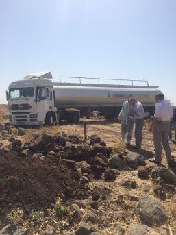 Jandarmayı Gören Hırsızlar 40 Tonluk Tankeri Bırakarak Kaçtı