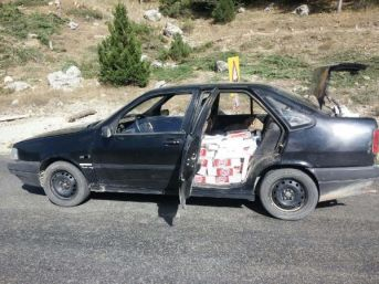 Andırın'Da 6 Bin Paket Kaçak Sigara Ele Geçirildi