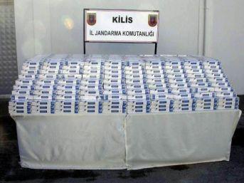 Kilis'te 9 Bin Paket Kaçak Sigara Ele Geçirildi