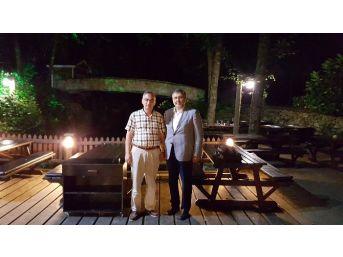 Başbakan Davutoğlu'nun Kardeşi Mustafa Davutoğlu Başkan Yılmazer'i Ziyaret Etti
