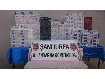 Şanlıurfa'da 13 Bin Paket Kaçak Sigara Ele Geçirdi