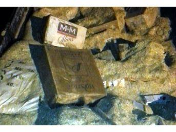 Uşak'ta 53 Bin Paket Kaçak Sigara Yakalandı