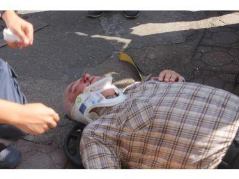 Tümseğe Takılıp Düşen Yaşlı Adam Yaralandı