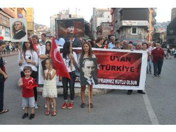 Zonguldak'ta Teröre Lanet Yürüyüşü