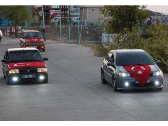 Zonguldak'ta Teröre Tepki Konvoyu