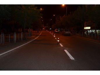 İstanbul Caddesinde Çizgi Çalışması Yapıldı