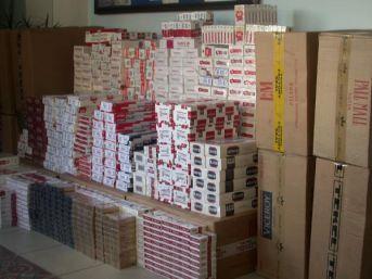 Amasya'Da 38 Bin 440 Paket Kaçak Sigara Ele Geçti