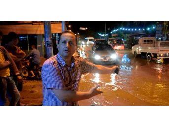 Ödemiş'te Sağanak Yağmur Su Baskınlarına Yol Açtı