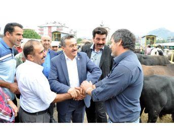 Başkan Tutal, Hayvan Pazarı Açılışına Katıldı